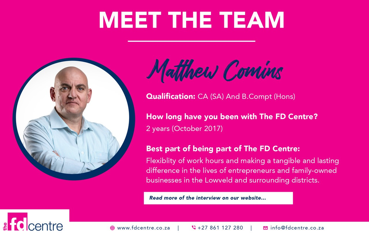 Introducing Matthew Commins - FD Centre team